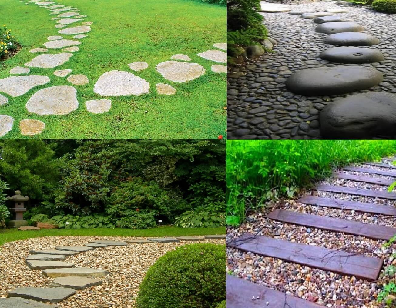Красивые садовые дорожки своими руками с помощью форм 61